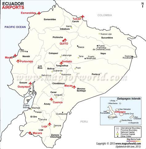 map of equador ecuador airports airports in ecuador map