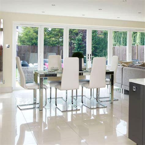 doors dining room chic dining room with bi fold doors ideal home