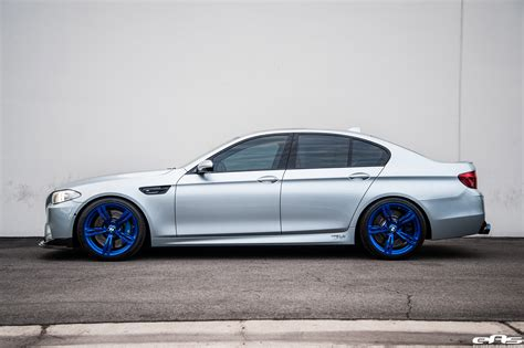 custom bmw m5 silverstone bmw m5 with blue wheels a custom exhaust