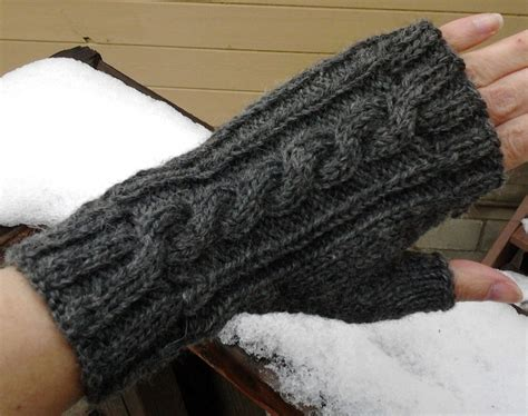 fingerless knit gloves wool cable knit fingerless gloves charcoal