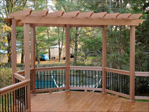 Hillsborough Nj Pressure Treated Deck With Timbertech Pressure Treated Pergola