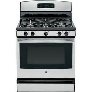 home depot stainless steel stove ge 5 0 cu ft gas range in stainless steel jgbs65refss