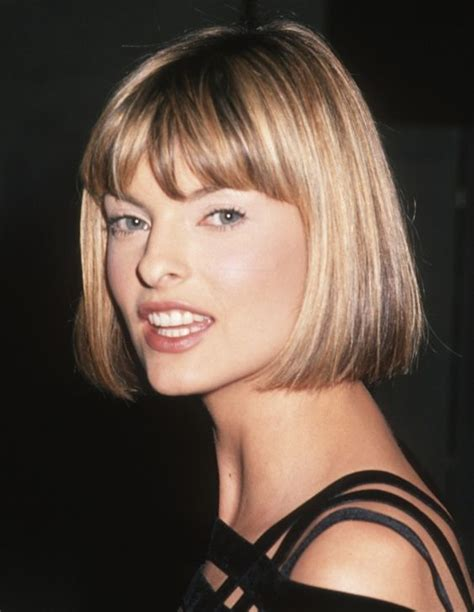chin grazing haircuts mane addicts happy birthday linda evangelista tbt to