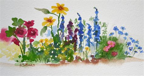 how to garden flowers watercolor garden nature studio