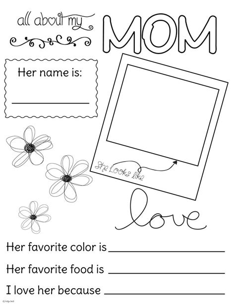 lds coloring pages mothers day all about my mom fill out and coloring page mother s
