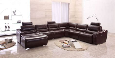 Large Leather Sectional Sofas Large Spacious Italian Leather Sectional Sofa In Brown San Diego California Esf 2144