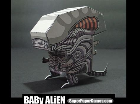 Aliens Papercraft - baby paper craft by villin on deviantart