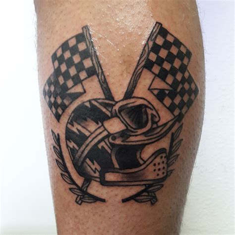 checkered flag tattoo designs custom motorcycle biker