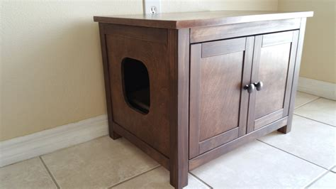 tall litter box cabinet large odor free custom hand made in usa wood cat litter