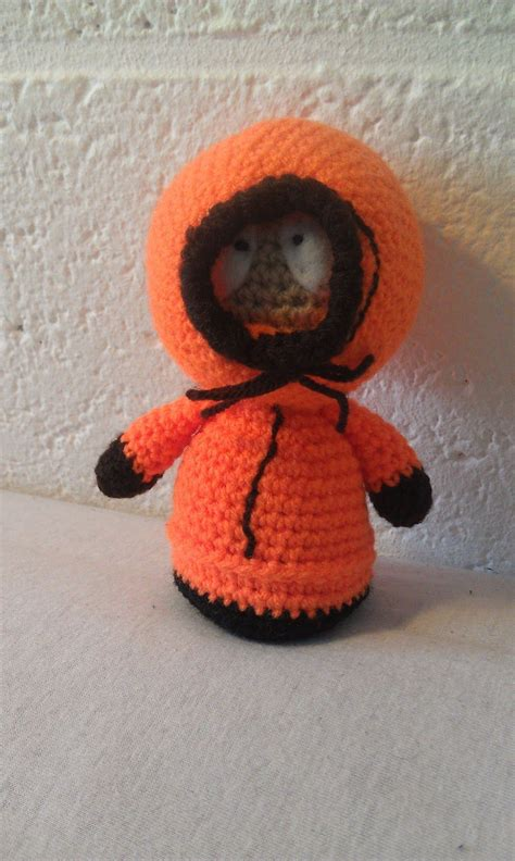 crocheted kenny mccormick  south park  amigurumi
