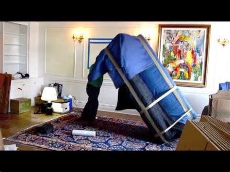 how to wrap a couch for storage 4 how to pack wrap a sofa for moving youtube