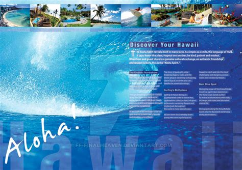 hawaii brochure template hawaii brochure inside by ff finalheaven on deviantart