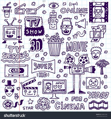 doodle do tv show tv shows series doodle stock vector 282891266