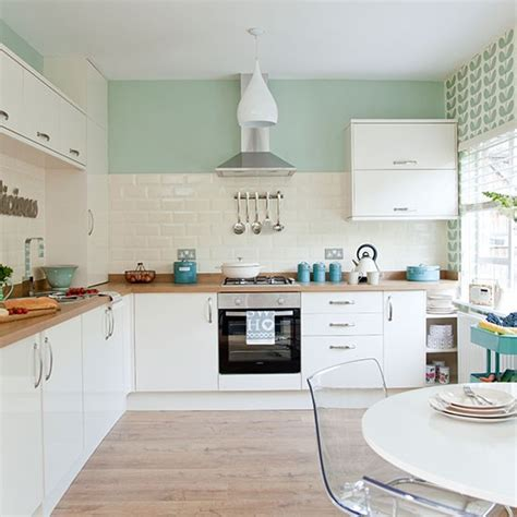 pastel kitchen ideas traditional kitchen with pastel green walls decorating