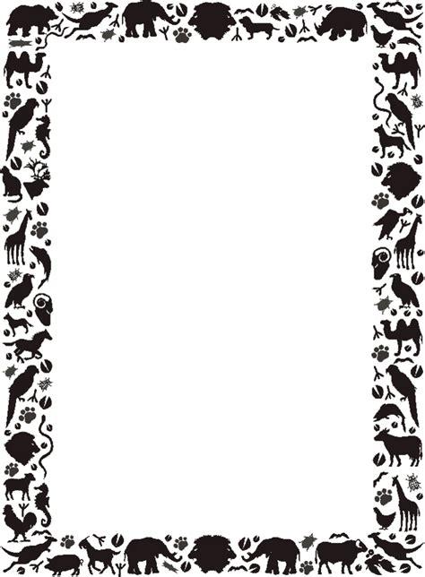Printable Animal Borders | free printable borders full page designs page 5