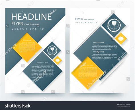 contemporary flyer design abstract vector modern flyer brochure annual stock vector