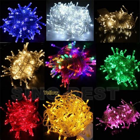 free shipping holiday outdoor rgb 100 led string lights