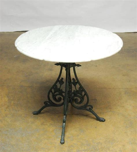 Marble Top Bistro Table by Nouveau Marble Top Bistro Table For Sale At 1stdibs