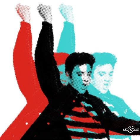 elvis presley pop art painting elvis rock roll pair stylish pop art bespoke