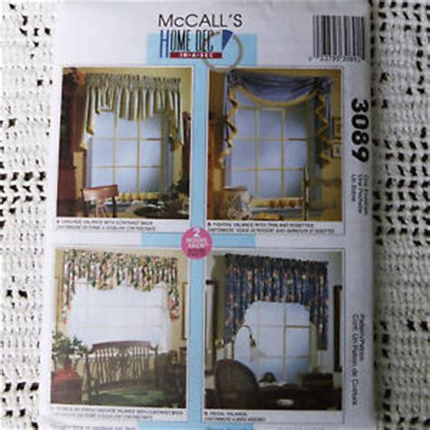 home decor window treatments mccalls 3089 valance home decor window treatments 2 hour