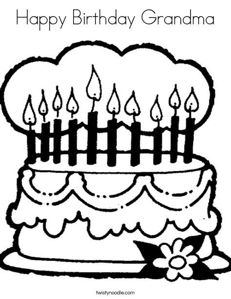 happy birthday nana coloring pages coloring pages
