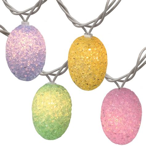 Pastel Colored Easter Egg String Lights 10 Lights Pastel Lights