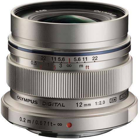 camara olympus lens olympus m zuiko digital ed 12mm f 2 lens silver v311020su000