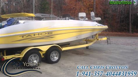 yellow tahoe boats unavailable used 2006 tahoe 215 deck boat in toano