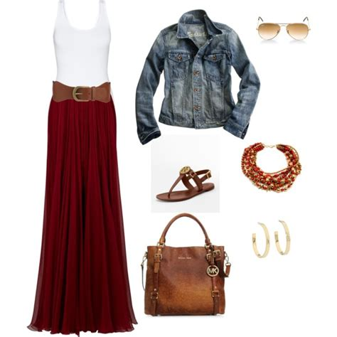 maxi skirt polyvore