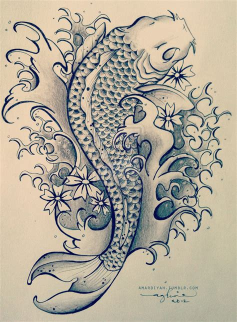tattoo koi drawing koi fish tattoo by mardiyaha on deviantart a tattoo