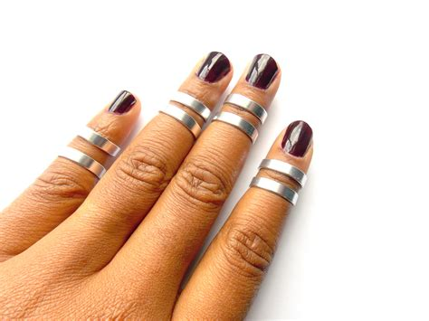 above knuckle rings 8 adjustable midi rings stacking
