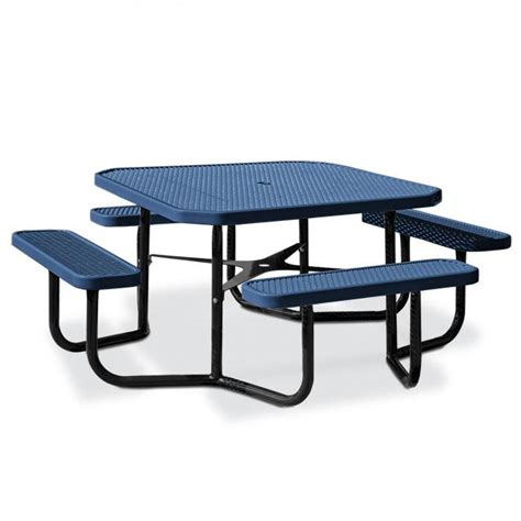 octagonal expanded steel table portable frame picnic