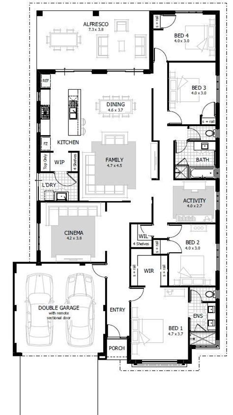 25 best ideas about 4 bedroom house plans on pinterest 4 bedroom floor plans for a house fresh best 25 4 bedroom
