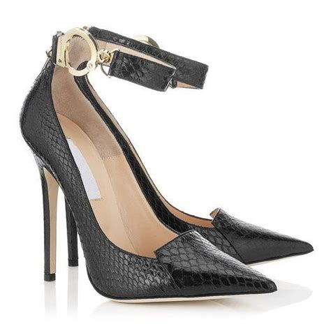 snakeskin pumps black dress shoes thin heels buck pointed toe t show pumps
