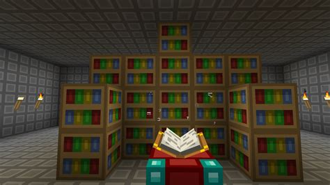 15 bookshelves minecraft