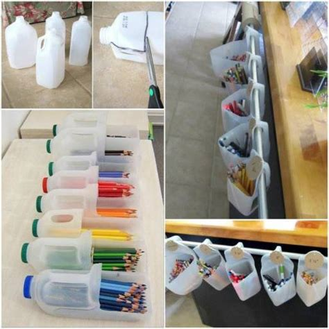 Home Organizer Cotidiana by Wonderful Diy Recycled Milk Storage