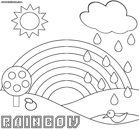 rainbow coloring sheet rainbow coloring pages coloring pages to and print