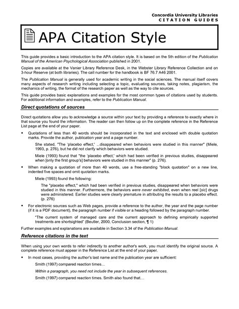 apa format style citation citing indirect quotes apa style quotesgram