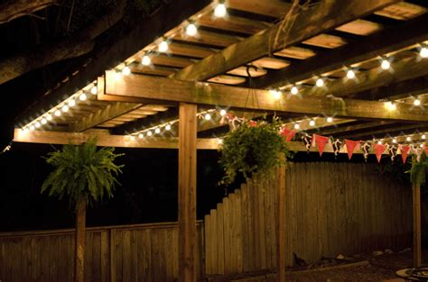 Hanging Lights Patio Amazing Of Hanging Patio Lights How To Hang String With Light Ideas For Backyard Trends Lovable