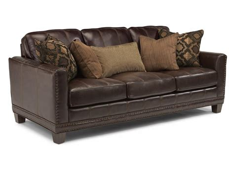 flexsteel living room leather sofa 1373 31 hickory