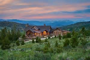 Mountain Home Design Trends rustic ranch house in colorado opens to the mountains