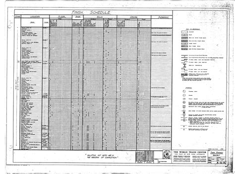architectural drawing sheet numbering standard architects list north tower blueprints table of world