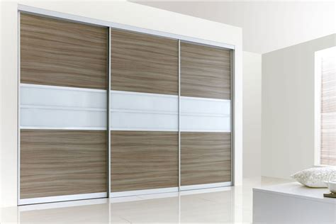 Glass Door Wardrobe Designs Sliding Wardrobes Modern Walnut White Glass Fitted Wardrobe