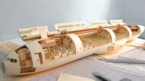 airplane made painstaking paper plane model made from 100 manila