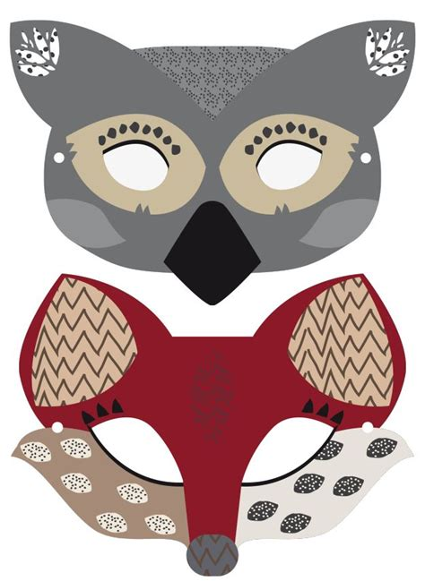 new year animal printable masks 32 best masks for pust images on carnivals