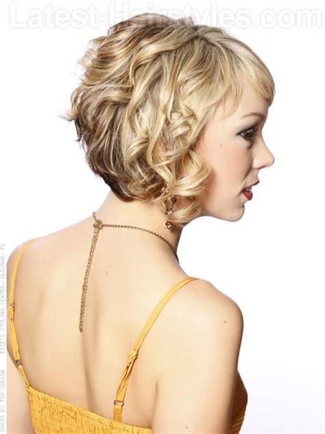 curly hair long in front short in back 22 sexy and flattering short hairstyles for women over 40