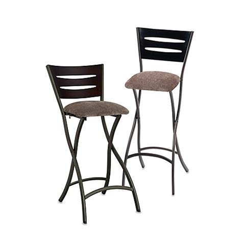 Folding Bar Stools Bed Bath Beyond Wood And Metal Folding Stool Bed Bath Beyond