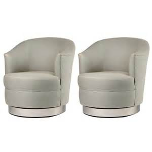 Small Club Chairs Swivel Design Ideas Pair Of Karl Springer Swivel Club Chairs For Sale At 1stdibs