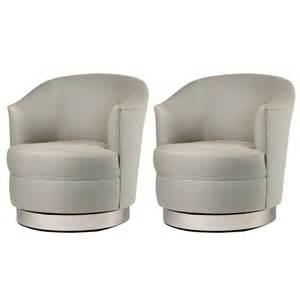 pair of karl springer swivel club chairs at 1stdibs