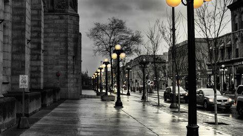 dark street  lamps papersco